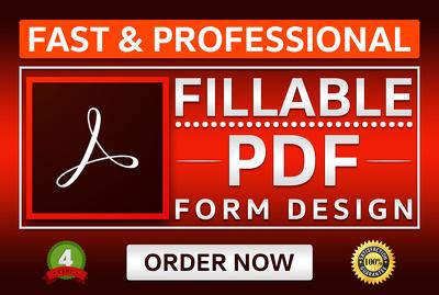 Create fillable PDF form