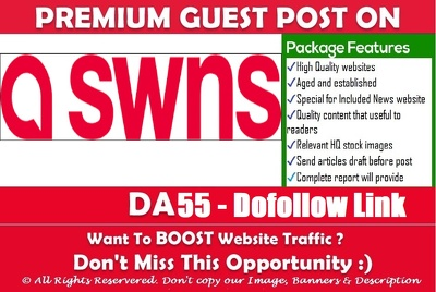 Write & Publish a guest post on stories.swns.com DA 55 Dofollow
