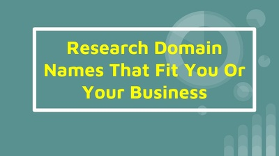 I Will Find Available Domain Names That Fit You Or Your Business