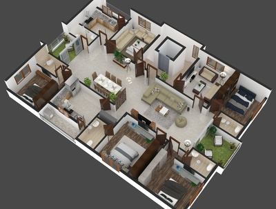 Convert your 2-D Floor Plan into a beautiful 3-D model in 1 day.