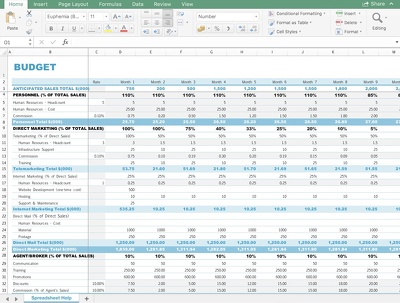 Help configure your spreadsheet, add formulas, lookups and more