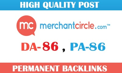 Write and Publish post on Merchantcircle.com DA86 Blog