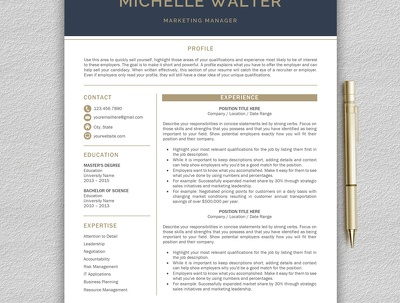 Design professional CV