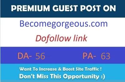 Publish guest post on Fashion blog Becomegorgeous.com Da- 56