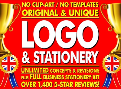unlimited Logo Designs + Stationery + Favicon + Fonts + Files