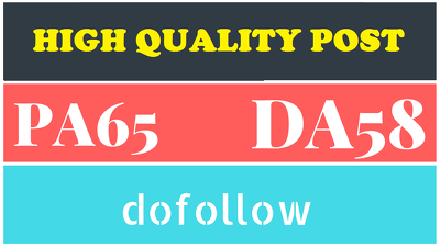 Guest post on High Authority DA65 Dofollow Blog(SELECT ANY ONE)