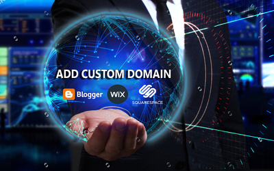add custom domain on Blogger, Wix & Squarespace