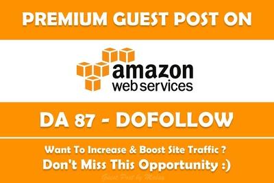 guest Post on Amazon Cloud. Amazonaws.com - DA 87, Dofollow