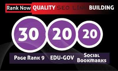 manually Create 30 PR9 + 20 EDU- GOV HIGH PR SOCIAL BOOKMARKS