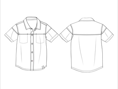 Develop simple B&W technical drawings for Fashion