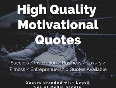 Design 100 High Quality Motivational Quotes