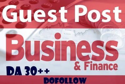Write and post 10 HQ Business or Finances  DA30+ (Do-Follow)