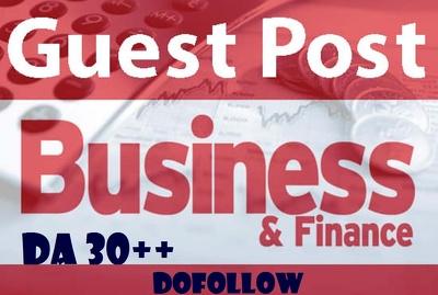 Write and post 10 HQ Business or Finances  DA30+ (Do-Follow)
