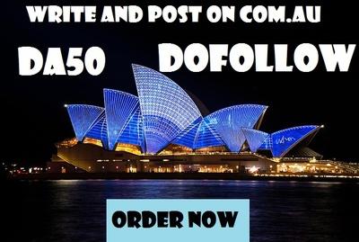 Write and post on .COM.AU DA50 Dofollow blog