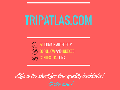 Add a guest post on tripatlas.com, DA 50