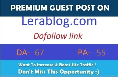 Publish guest post on Lerablog.com DA-67 with dofollow