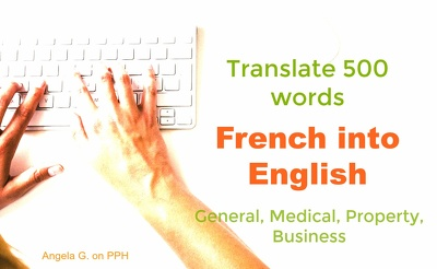 Translate 500 words from French into English