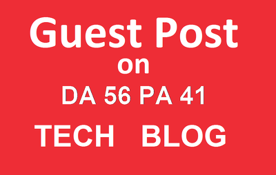 Publish a Guest Post on Technology Blog - DA56 - DoFollow Link