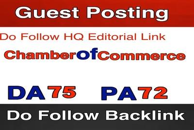 Write & Publish Guest Post on Chamberofcommerce.com - DA 65