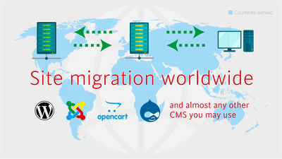 Migrate and transfer a website to another server hosting account