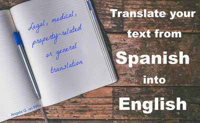 Translate 500 words Spanish to English