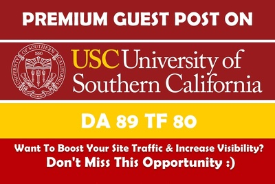 Publish Guest Post on USC.edu - DA 90 Dofollow University Link