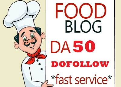 Publish article on Food cooking receipes Niche DA50 Blog