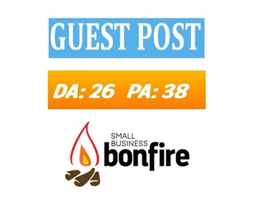 publish guest post on SmallBizBonfire DA 26 PA 38
