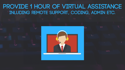 Provide 1 hour of Virtual Assistance / Remote Support