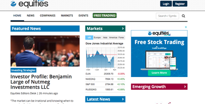 publish a guest post on Equities - Equities.com - DA76, PA78