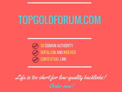 Add a guest post on topgoldforum.com