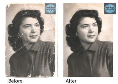 Repair, Restoration and Retouching your Old Photo in 24 hours