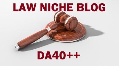 Publish Guest post on Law niche DA 40 blog