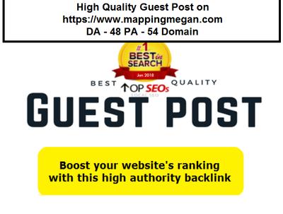 High Quality Guest Post on https://www.mappingmegan.com DA- 48