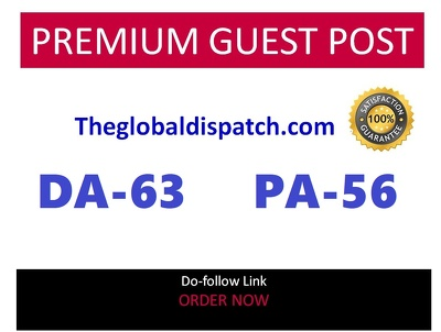 Publish guest post in theglobaldispatch.com DA 63