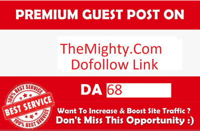 Write & Publish Guest Post On Themighty.com DA- 68 Health Web