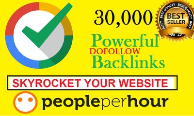 Skyrocket your seo with 30000 backlinks