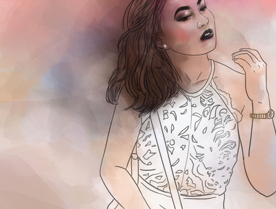 turn a photo of you into a cool watercolor art