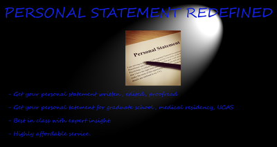 edit, proofread or write your personal statement