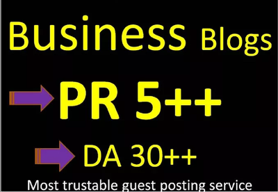 I will do 5*500 guest post in PR 5 Business blog