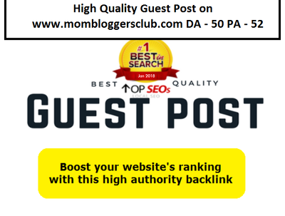 high Quality Guest Post on mombloggersclub.com DA - 50 PA - 52