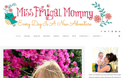 Guest post on Missfrugalmommy.com home & family website - DA 45