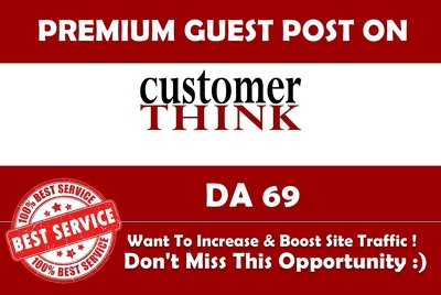 Publish a guest post on Customer Think CustomerThink.com - DA61