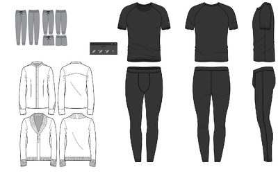 create designs for a loungewear range (up to 12)