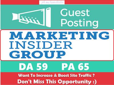 Write & Publish a guest post on MarketingInsiderGroup.com - DA59