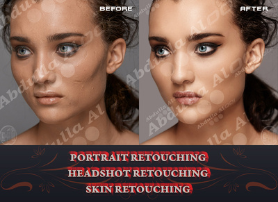 Do Headshot Photo Retouching, Beauty Portrait Retouching