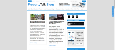 Publish a guest post on Propertytalk.com - DA50, PA52