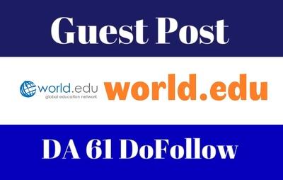 write and Publish Guest Post on DA61 World.edu blog