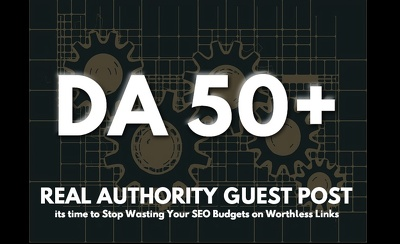 Publish 7 Guest Posts Articles on DA50 Websites - Dofollow Links