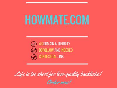 Add a guest post on howmate.com, DA 43